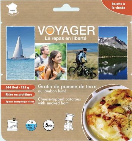 Mashed potatoes with cheese and smoked ham - Voyager
