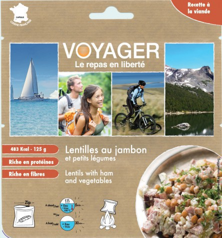 Lentilles au jambon et aux petits légumes - Voyager