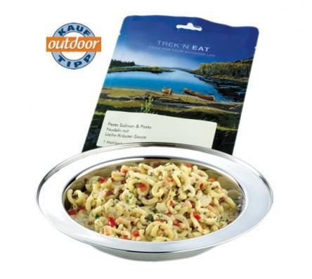 Salmon Pesto with Pasta - Trek'n Eat