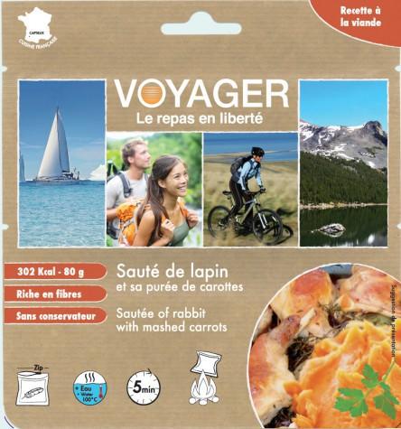 Sauté de lapin et sa purée de carottes - Voyager