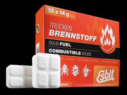 Tablettes Esbit 12 x 14 g