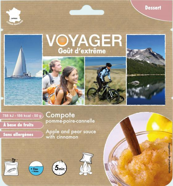 Apple and pear sauce with cinnamon - Voyager