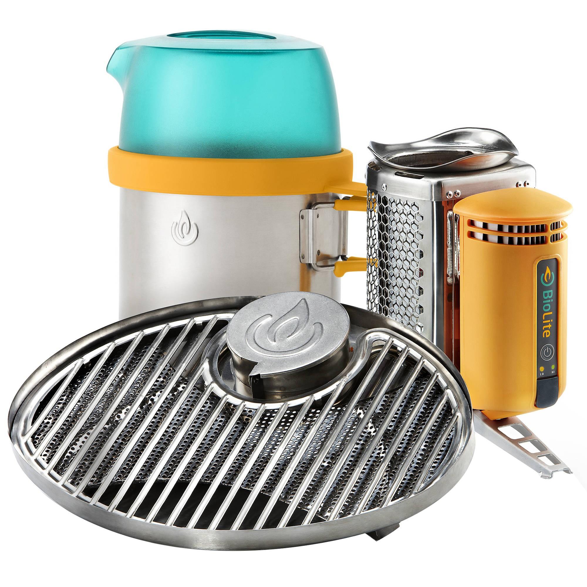 Pack Biolite CampStove + Grille Barbecue + KettlePot