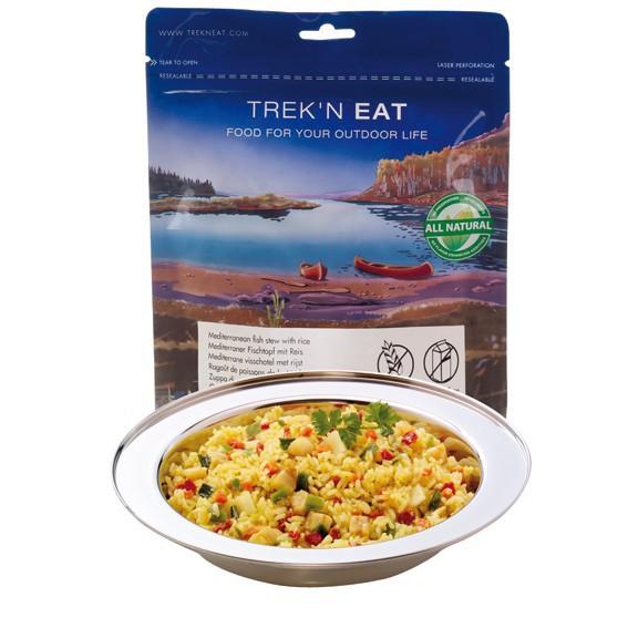Poisson à la méditerranéenne et riz - Trek'n Eat