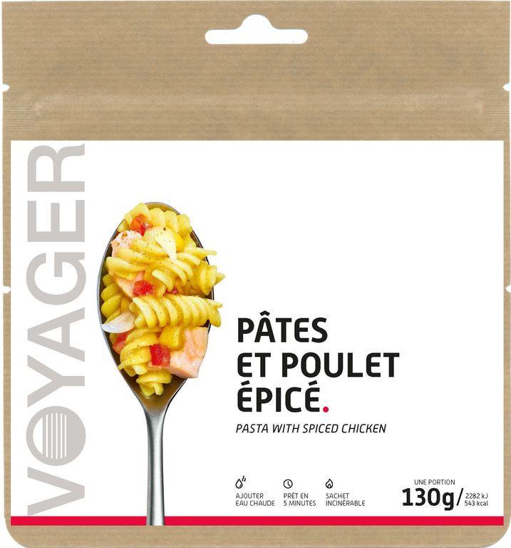 Pâtes et poulet épicé - Voyager