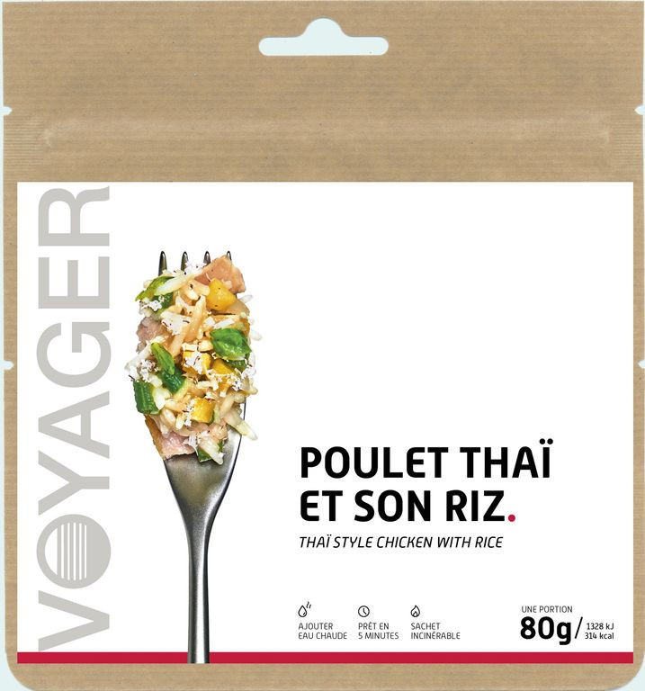 Poulet Thaï et son riz - voyager
