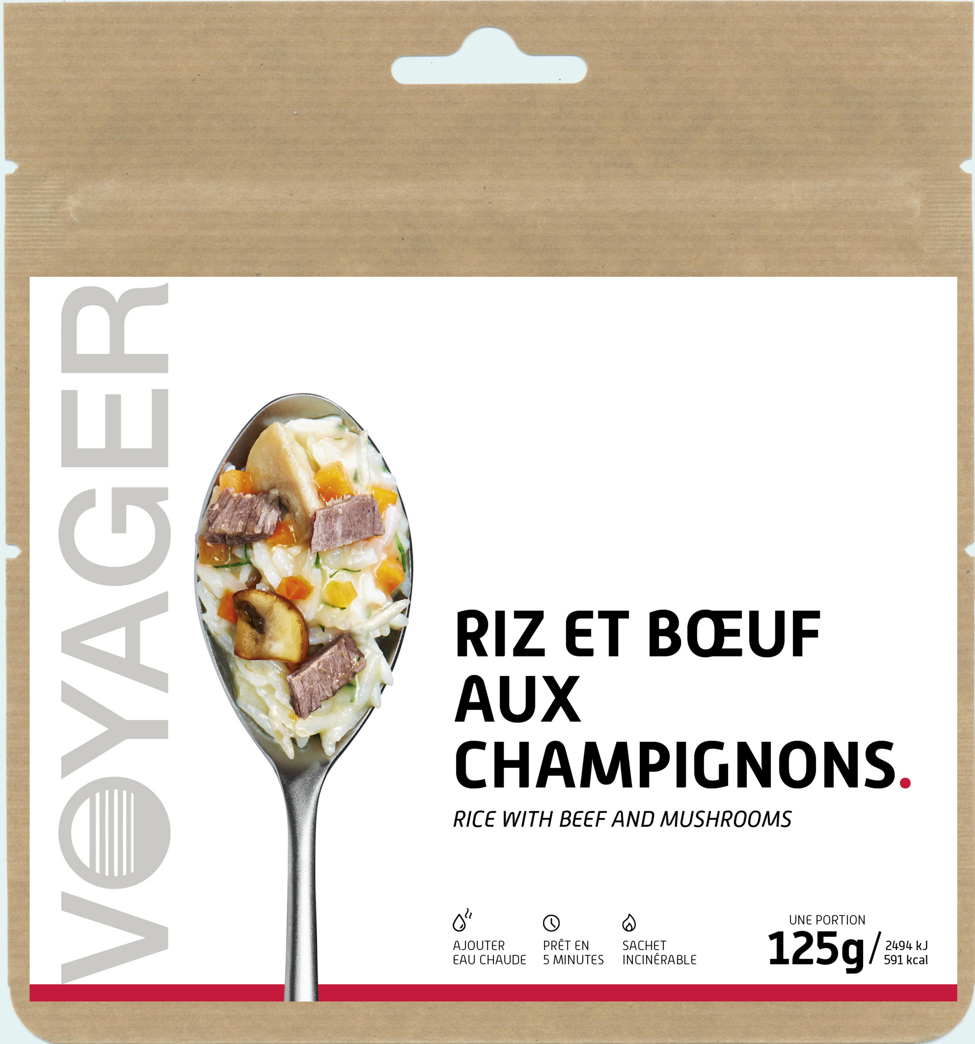 Riz et bœuf aux champignons Voyager