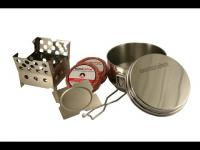 Emergency Cook Kit - Multi Fuel Stove with Cooking Pot and Firestarters